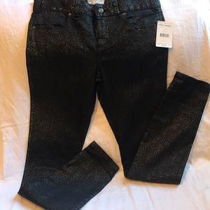 NWT- Free People black jeans with accents of gold